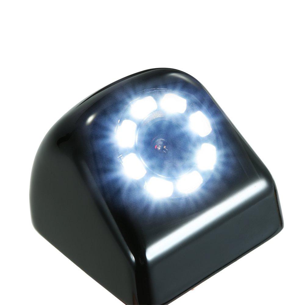 KKmoon Telecamera posteriore impermeabile per auto con assistenza notturna 8 LED Bianco