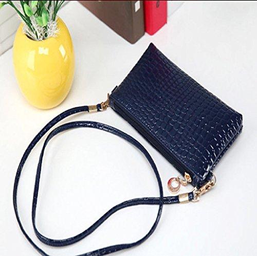 di del messaggero Pelle Borsa a borsa di Elegant Blu frizione donne Crossbody Familizo coccodrillo tracolla wqUY8