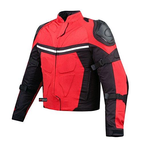 NEW PRO MESH MOTORCYCLE JACKET RAIN WATERPROOF RED ()
