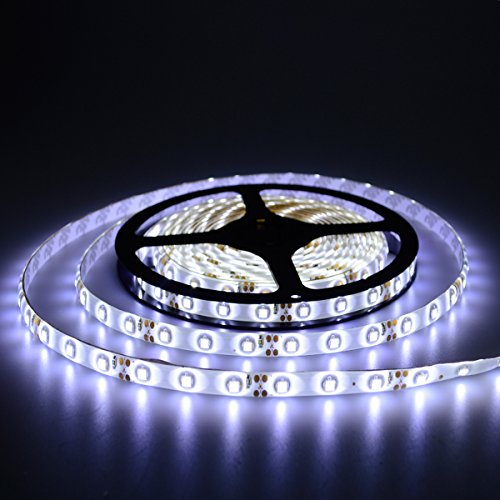 Linear Pin Aquarium Lamp (elcPark 5m 16.4 Ft SMD 3528 LED Light Strip Waterproof ip65 DC 12V 300leds Cool White)