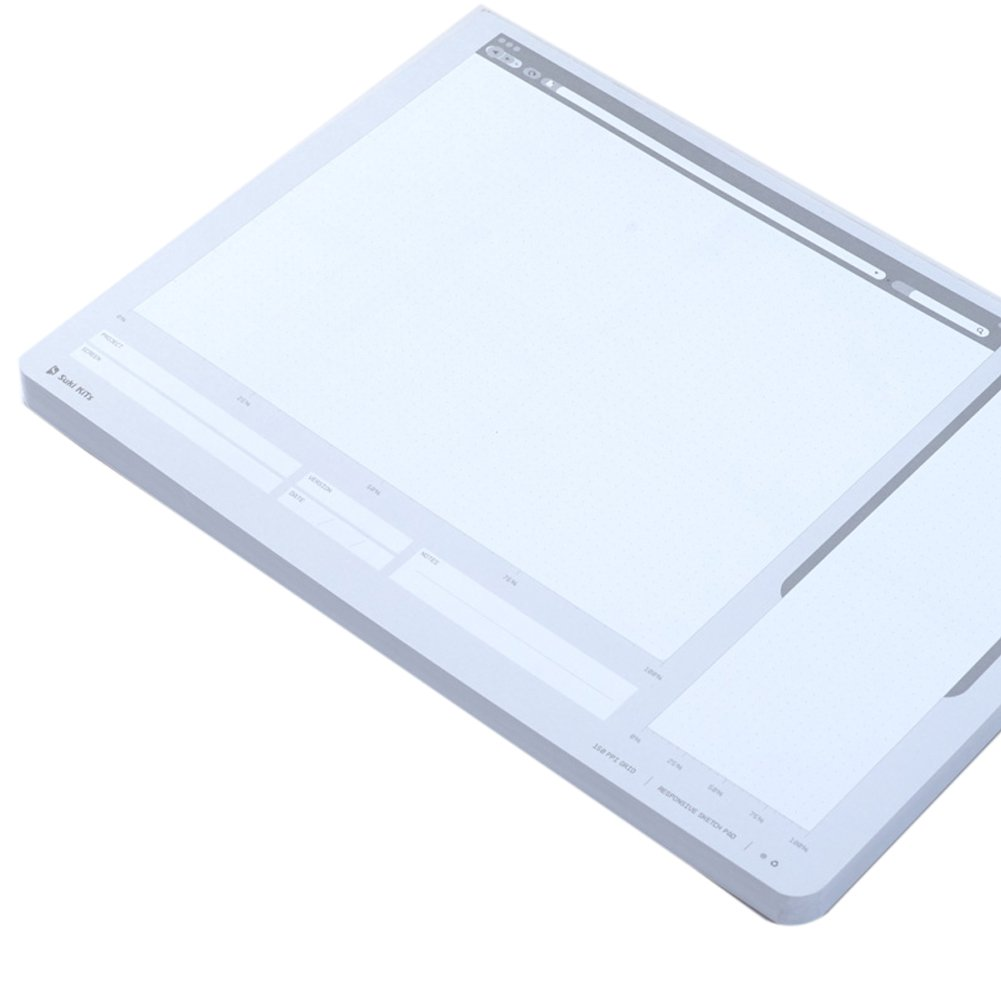 Loghot Creative Draft Drawing UI Design Responsive Sketch Pad for App Design Template by Loghot