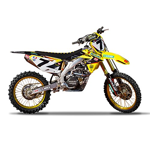 (Enjoy MFG 2008-2015 RMZ 450 Team Yoshimura Suzuki Graphics Kit and Custom Number Plates Bundle )