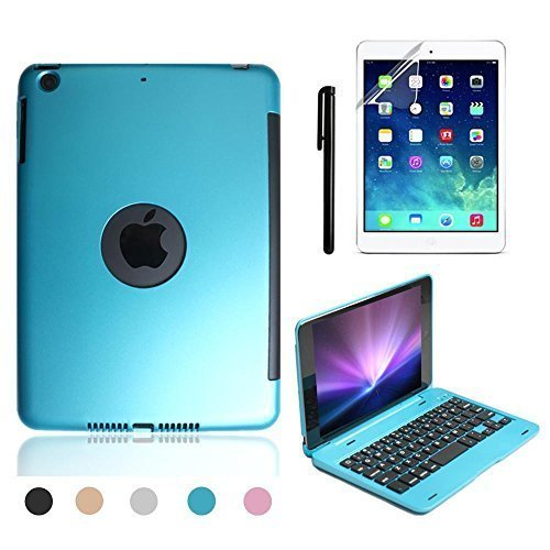 Best Aluminum Cases With Bluetooth Keyboards - iPad Mini 4 Keyboard Case, BoriYuan