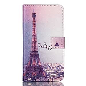 For Lumia Nokia 640 Case, FocusUp Fashion Eiffel Tower Style Premium PU Leather Wallet Holster Card Slot With Stand Folio Flip Magnetic Strap Protection Shell Cover For Microsoft Nokia Lumia 640