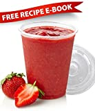 80 plastic cups and lids included in the set;All customers receive a free recipe e-book for cold drinks via e-mail;16 oz sizeHIGH QUALITY AND PRACTICAL: Made with durable, professional-grade plastic, our disposable cups and lids will hold up to any c...