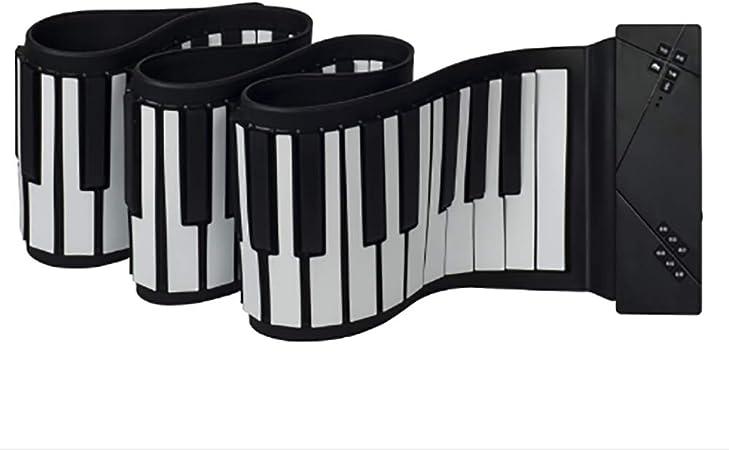 Roll Up Piano con Bluetooth, Micrófono Añadir Pedal De ...