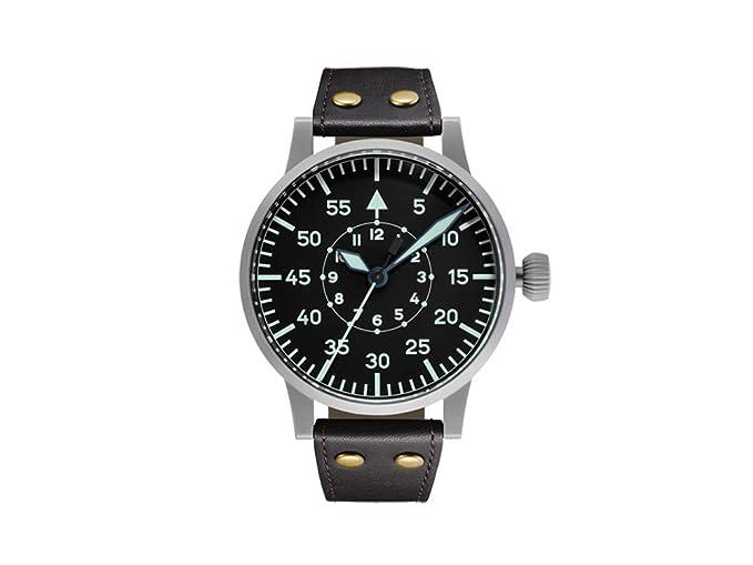 Laco réplica 55 B Piloto Original reloj automático, negro, 55 mm, correa de piel: Amazon.es: Relojes