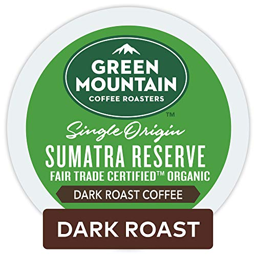 Sumatra Blend Coffee - Green Mountain Coffee Roasters Sumatran Reserve Keurig Single-Serve K-Cup Pods, Dark Roast Coffee, 72 Count (6 Boxes of 12 Pods)