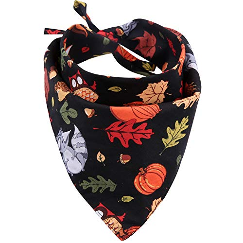 KZHAREEN Thanksgiving Dog Bandana Reversible Triangle Bibs Scarf Accessories for Dogs Cats Pets Animals