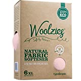 Woolzies pink wool dryer balls set of 6 , natural fabric softener