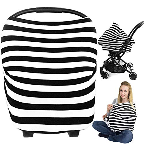 Nursing Breastfeeding Cover, Metplus Car Seat Covers for Babies Infant Carseat Canopy Baby Breast Feeding Cover Ups, All-in-1 for Stroller Shopping Cart Highchair Mom Infinity Scarf