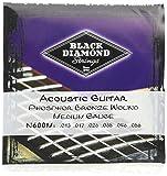 Black Diamond N600M Phosphor Bronze Acoustic Guitar Strings, Medium
