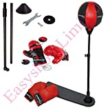 FB FunkyBuys Kids Childrens Sports Boxing Punching Bag Standing w/ Pair of Gloves Adjustable Height (92-130cm) For Kids & Teenagers (SI-TY1092) by FB FunkyBuys