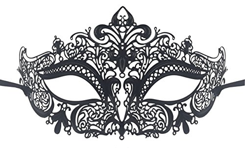Luxury Mask Women's Laser Cut Metal Venetian Masquerade Crown