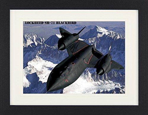 1art1 113809 Kampfflugzeuge - Lockheed SR-71 Blackbird Ü ber Der Sierra Nevada Gerahmtes Poster Fü r Fans Und Sammler 40 x 30 cm