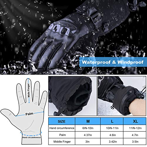 SHAALEK Heated Gloves for Men Women - Electric Heating Gloves for Motorcycle, Outdoor Work Rechargeable