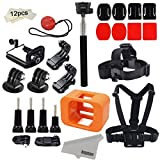 Kupton Accessories for GoPro Hero 5 Session/ Hero Session Mounts Bundle GoPro Camera Floaty Chest Harness Head Strap Monopod Stick Starter Kit