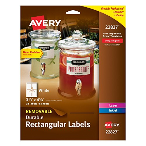 Avery Removable Durable Rectangular 22827