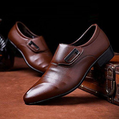 Sunny Scarpe on Smooth Brown PU Slip Resistente Low Leather Dimensione traspirante Oxfords 44 lavoro amp;Baby all'abrasione Nero Color da da Top uomo UE fq5fr