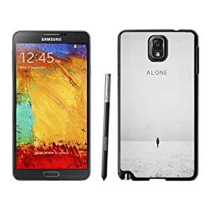 NEW Unique Custom Designed For Case Samsung Note 4 Cover Phone Case With Walking Alone Winter Scene_Black Phone Case