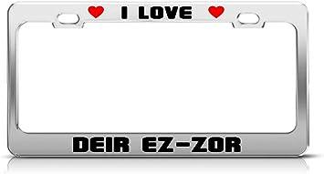 I LOVE SYRIA License Plate Frame