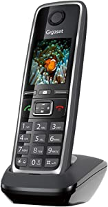 Gigaset C530 H – Additional Handset for C530 IP System, Portable Phone for Small Businesses, Offices or Home, Supports Landline and IP (Black, Pack of 1)