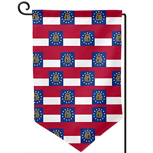 - Redesigm Georgia Flag Garden Flag Holiday Decoration Double-Sided Flag Outdoor Fun Decoration Flag for Family Garden Courtyard Lawn Three Shapes (Rounded, Sharp Corner, Square) -12.5 X 18.5 Inch