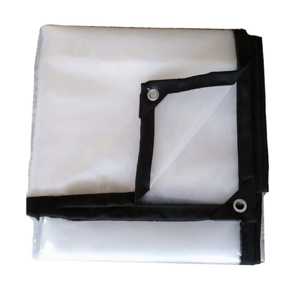 4m x 8m XHCP BÂche antipluie Transparente Ultra-légère avec Oeillets, Feuille de bÂche Isolante pour Plantes, Toile de Tente imperméable en Plastique - 120g   m \u0026 sup2; (Taille  4mx6m)
