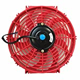 Upgr8 Universal High Performance 12V Slim Electric Cooling Radiator Fan With Fan Mounting Kit