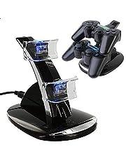 شاحن مزدوج مع قاعدة USB ال اي دي لذراع تحكم Playstation 4