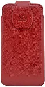 Suncase 45782271- Funda de piel para Sony Xperia Z1 Honami, color rojo