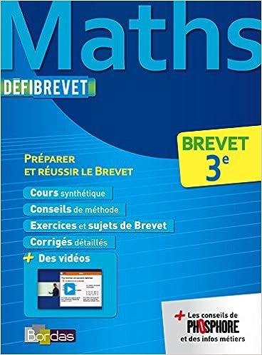 Defibrevet Cours Methodes Exos Maths 3e Yann Gelebart