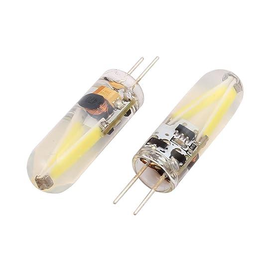 Aexit 2Pcs AC DC 12V 5Watt 150LM COB G4 Base LED Lámpara de ...