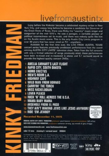 Kinky Friedman: Live From Austin Texas by RED Distribution
