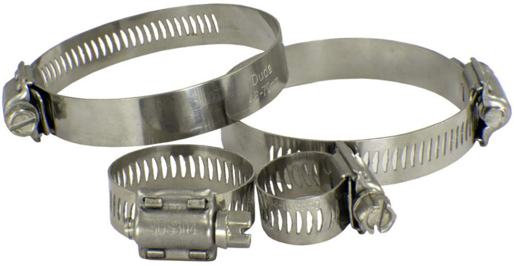 1x Hose Clamps Hose Clips Galvanized Steel 46-70mm