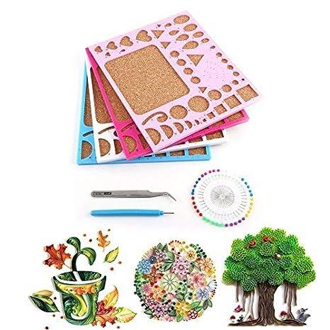 daynecetydiy papel Quilling conjunto de herramientas plantilla Junta molde pinzas pasadores ranurados herramienta Kit tarjeta manualidades de papel Hamdy ...