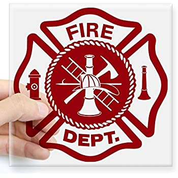 Amazon.com: Vintage Black & Gold FD Fire Department Maltese Cross ...