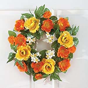 Tropical Floral Roses Wreath 22