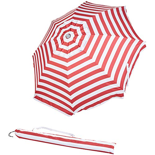 AmazonBasics Beach Umbrella Red