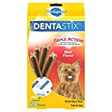 PEDIGREE Dentastix Toy/Small Dog Treats, Beef, 24 Treats