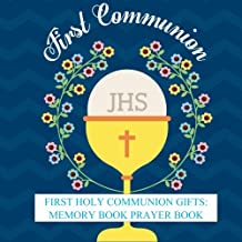 First Holy Communion Gifts: Memory Book Prayer Book and Gift Recorder with Photo Pages and Party Celebration First Communion Gifts for Boys in all Depart First Communion Books in all Departments Decorations, Party Supplies, Balloons, Cake Toppers
