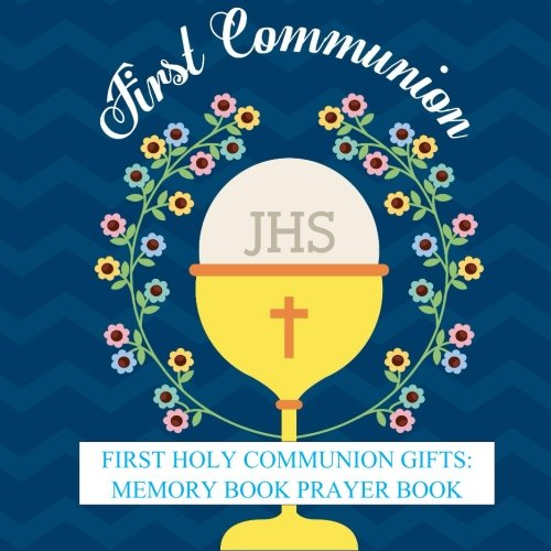 First Holy Communion Gifts: Memory Book Prayer Book and Gift Recorder with Photo Pages and Party Celebration First Communion Gifts for Boys in all ... Party Supplies, Balloons, Cake Toppers ()