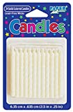 Club Pack of 576 Solid Classic Dove White Decorative Birthday Cake & Cupcake Party Candles 2.5''
