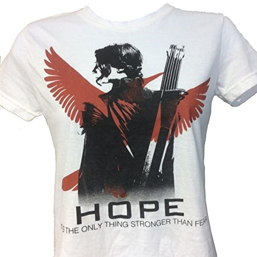 Hunger Games Hope It Is The Only Thing Stronger Than Fear T-Shirt White Extra Large