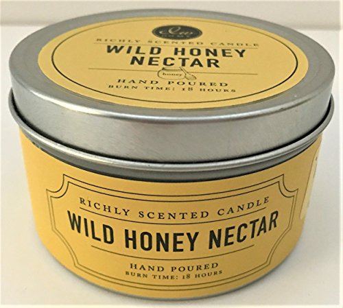 DW Home Travel Size Scented Candle WILD HONEY NECTAR Fragrance in Tin with - Nectar Travel