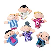 6 People Family Puppet Finger Puppet Toy Set