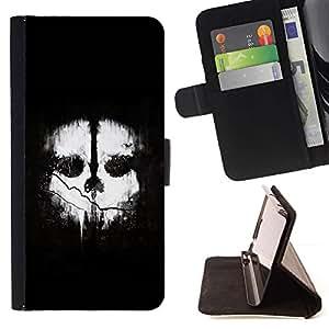 For Samsung Galaxy S6 Case , Dos caras- la tarjeta de Crédito Slots PU Funda de cuero Monedero caso cubierta de piel