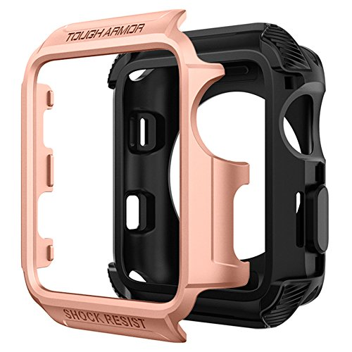 Spigen Tough Armor [2nd Generation] Designed for Apple Watch Case for 38mm Series 3 / Series 2 / Nike+ Sport Edition - Blush Gold