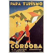 Cordoba Vintage Poster (artist: Gerente) Argentina c. 1935 (9x12 Collectible Art Print, Wall Decor Travel Poster)