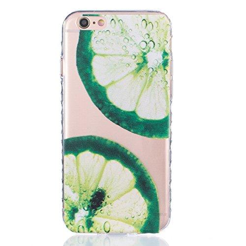 Für Apple iPhone 6 / iPhone 6S (4.7 Zoll) Hülle ZeWoo® TPU Schutzhülle Silikon Tasche Case Cover - BF079 / Zitrone